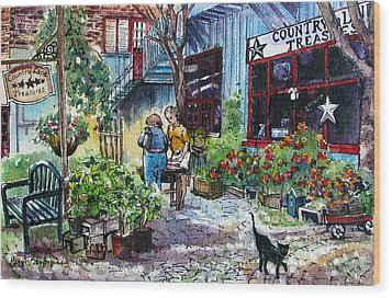 Wood Print featuring the painting Daytripper  by Margit Sampogna