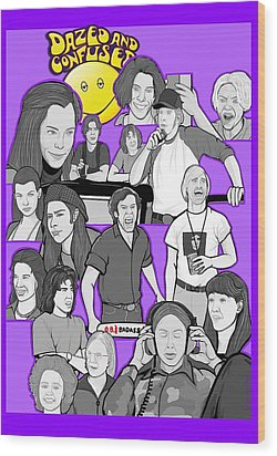Dazed And Confused  Wood Print by Gary Niles