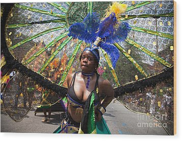 Dc Caribbean Carnival No 12 Wood Print by Irene Abdou