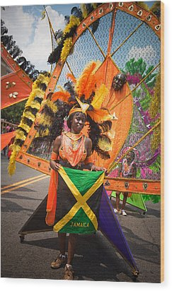 Dc Caribbean Carnival No 13 Wood Print by Irene Abdou