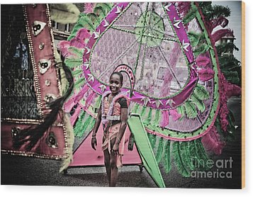 Dc Caribbean Carnival No 14 Wood Print by Irene Abdou