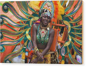 Dc Caribbean Carnival No 17 Wood Print by Irene Abdou