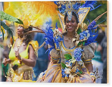 Dc Caribbean Carnival No 19 Wood Print by Irene Abdou