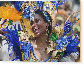 Dc Caribbean Carnival No 20 Wood Print by Irene Abdou