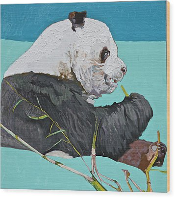Dc Panda Wood Print by Jamie Downs
