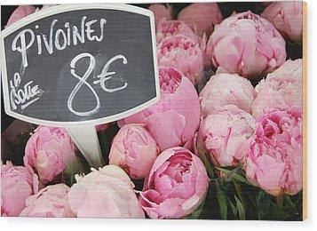 De Couleur Rose Wood Print by JAMART Photography