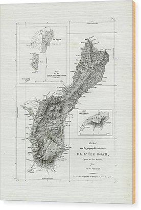 De L Ile Gwam Guam Wood Print by Freycinet  DuPerry