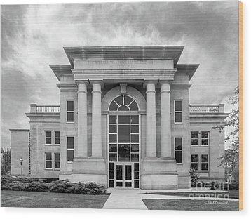De Pauw University Emison Building Wood Print by University Icons