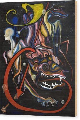 Dead Dog Wood Print by Sheridan Furrer