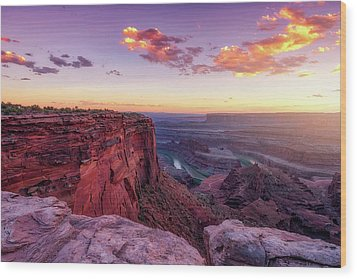 Wood Print featuring the photograph Dead Horse Point Sunset by Darren White