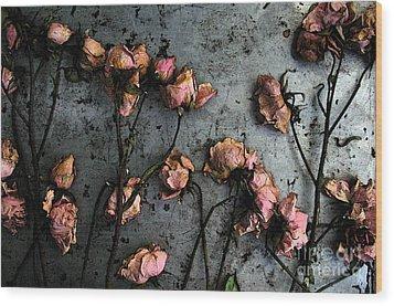Dead Roses 5 Wood Print