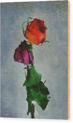 Wood Print featuring the digital art Dead Roses by Francesa Miller