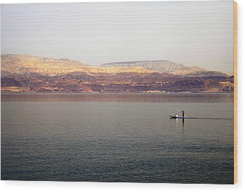 Dead Sea Sojourn Wood Print by Deb Cohen