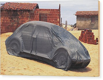 Wood Print featuring the photograph Dead Volkswagon In Brazil by Carl Purcell