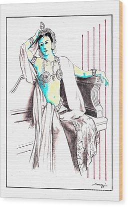 Deadly Diva, Mata Hari -- Portrait Wood Print