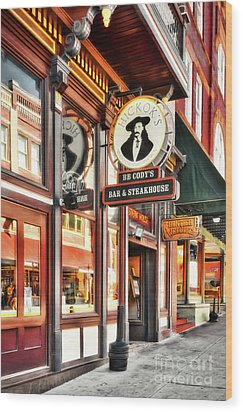 Wood Print featuring the photograph Deadwood South Dakota by Mel Steinhauer