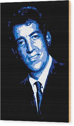 Dean Martin Wood Print by DB Artist