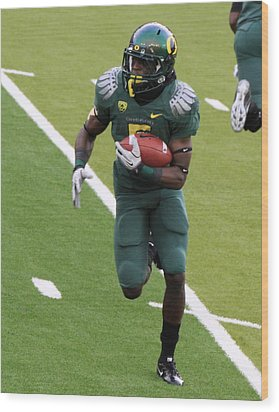 De'anthony Thomas Oregon Ducks Wood Print by Sam Amato