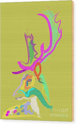 Dear Deer Wood Print by Go Van Kampen