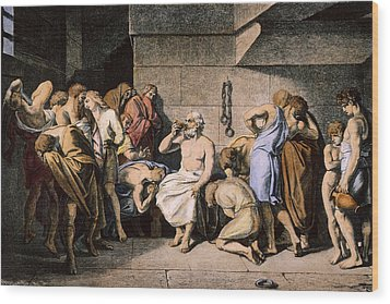 Death Of Socrates Wood Print by Granger