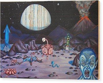 Death On Io Wood Print by Chris Benice