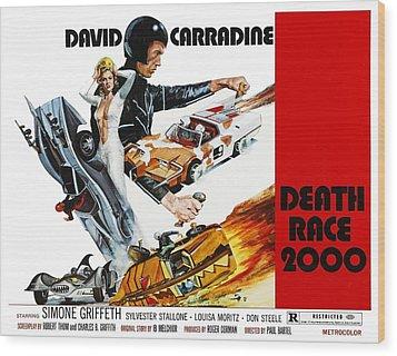 Death Race 2000, From Left Simone Wood Print by Everett
