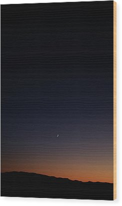 Death Valley - Last Light On The Desert Wood Print by Christine Till