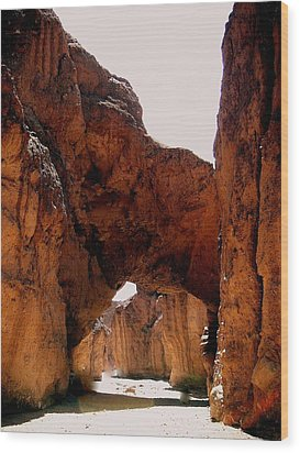 Death Valley Arch Wood Print by Marty Koch