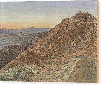 Wood Print featuring the painting Death Valley From Dante's View  A November Sunset by Joel Deutsch