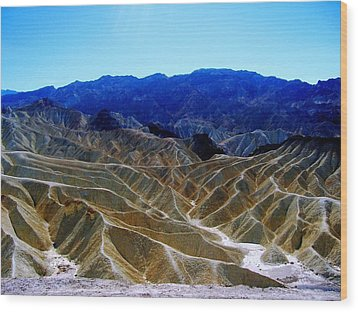 Wood Print featuring the photograph Death Valley Moguls by Don Struke