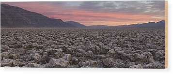 Wood Print featuring the photograph Death Valley by Patrick Downey