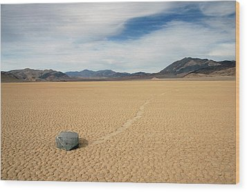 Wood Print featuring the photograph Death Valley Ractrack by Breck Bartholomew
