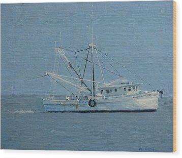Deborah Ann Trawling Wood Print by Robert Rohrich