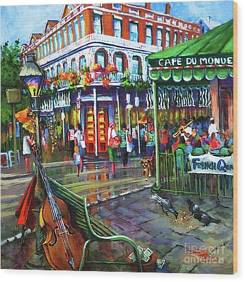 Decatur Street Wood Print by Dianne Parks