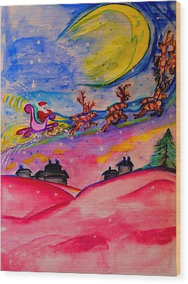 December 24th Wood Print by Helena Bebirian