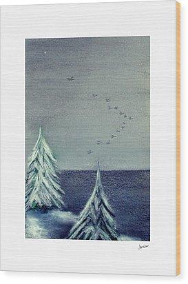 December Dawn Wood Print by Gary Jameson