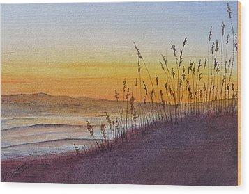 December Dawn - Kitty Hawk Wood Print by Joel Deutsch