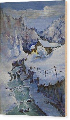 December Evening Wood Print by Bob Duncan