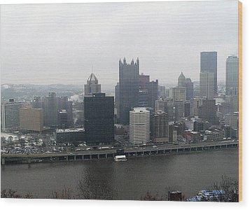 December Pittsburgh Wood Print by David Bearden