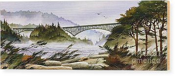 Deception Pass Bridge Wood Print