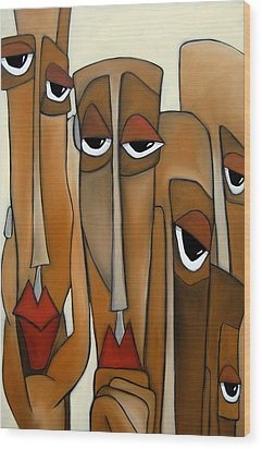 Decision Makers - Abstract Pop Art By Fidostudio Wood Print by Tom Fedro - Fidostudio