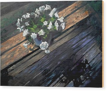 Deck Flowers #1 Wood Print by Brian Kardell