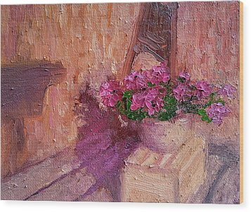 Deck Flowers #2 Wood Print by Brian Kardell