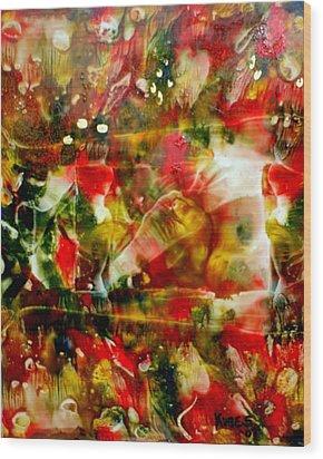 Deck The Halls Wood Print by Susan Kubes