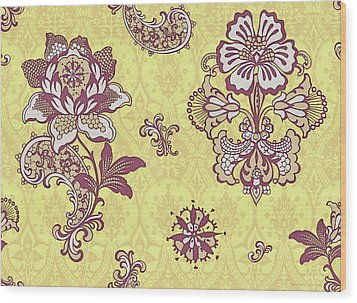 Deco Flower Yellow Wood Print by JQ Licensing