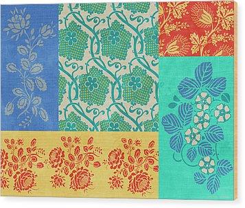 Deco Flowers Wood Print by JQ Licensing