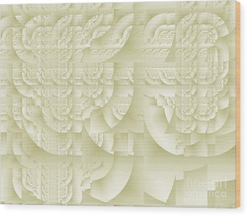Wood Print featuring the digital art Deco Relief by Richard Ortolano