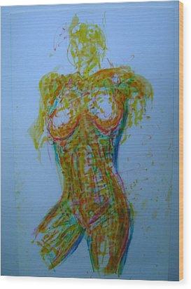 Decolletage Wood Print by Dean Corbin