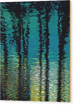 Deep Blue Wood Print by Gillis Cone