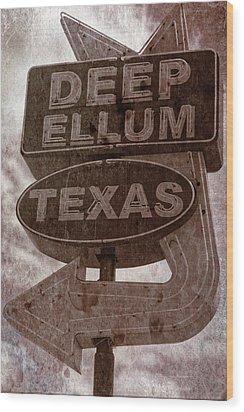 Deep Ellum Texas Wood Print by Jonathan Davison